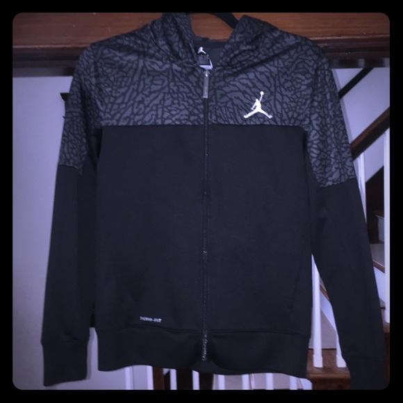 215caa6985d Jordan Shirts & Tops | Air Full Zip Hoodieblackelephant Print | Poshmark